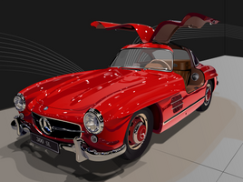 300sl using Inkscape by KJRents