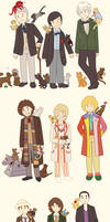All the Doctors + Their Companions As Cats