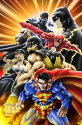 DC vs Mortal Kombat by SiriusSteve