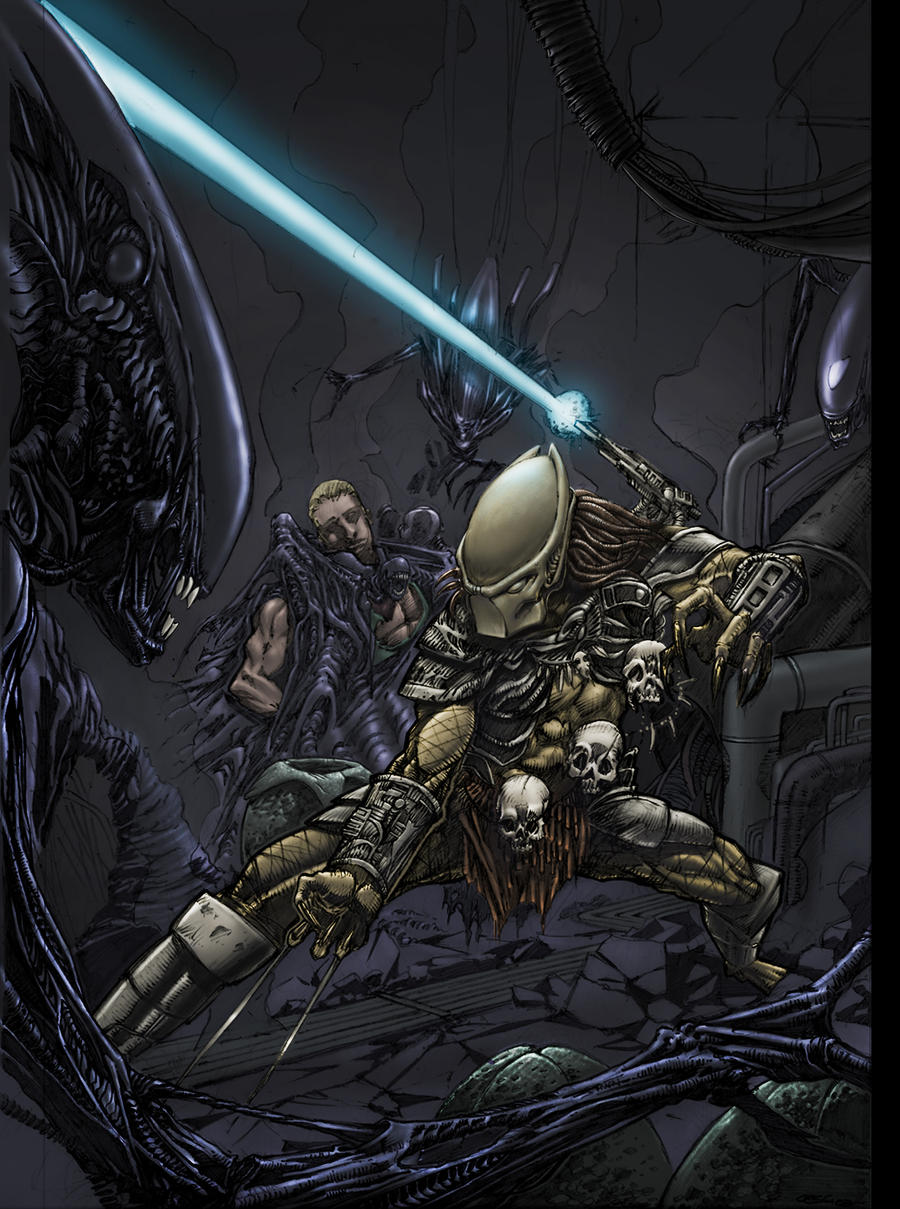 aliens vs predator drawings - photo #34