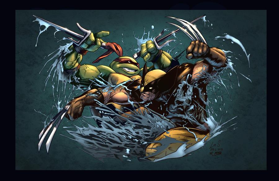 Raph VS Wolverine by SiriusSteve