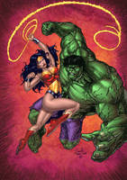 Wonder Woman VS The Hulk by SiriusSteve