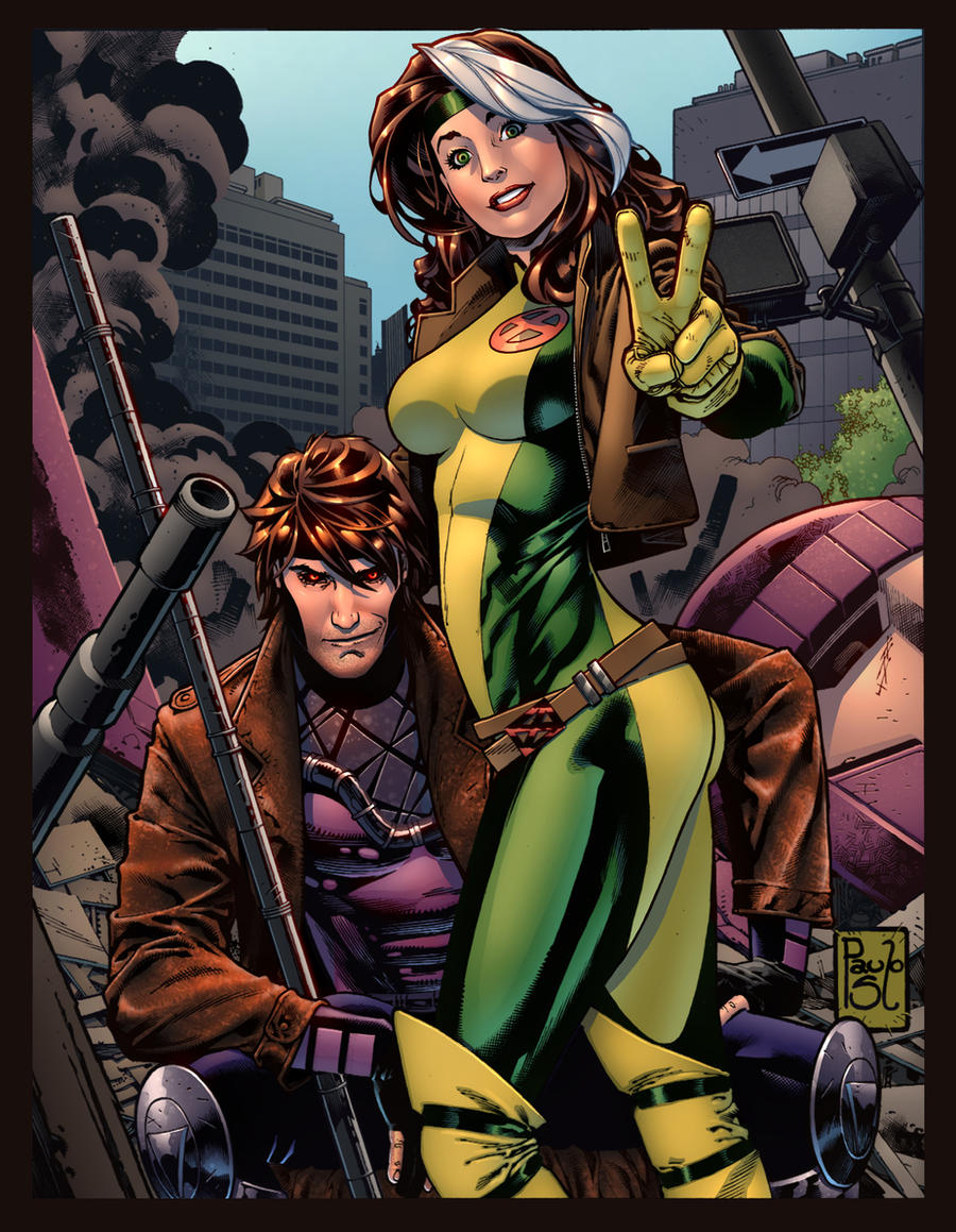 Gambit and Rogue by SiriusSteve
