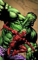 Hulk and Daredevil by SiriusSteve