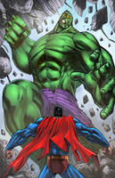Superman Hulk Fun By Mikemaluk by SiriusSteve