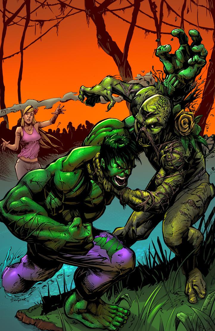 Swamp Thing VS Hulk by SiriusSteve
