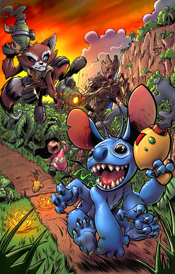 Rocket VS Stitch by SiriusSteve