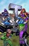 Teen Titans blue bg