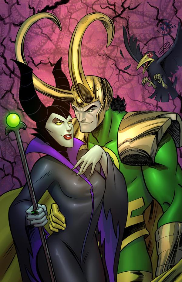 Maleficent and Loki by SiriusSteve