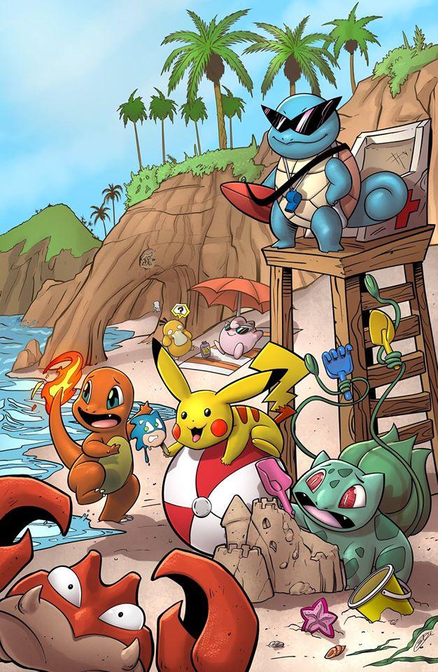 Pokemon Beach by SiriusSteve