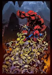 Avenging Spiderman - Joe Mad (pen)  Denis DYM (ink