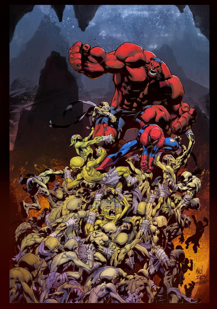 Avenging Spiderman - Joe Mad (pen)  Denis DYM (ink by SiriusSteve
