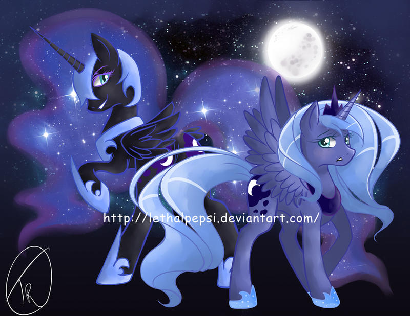 Princess Luna And Nightmare Moon