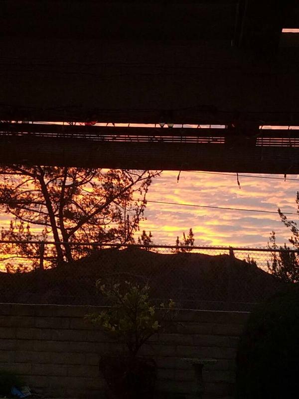 Sunset over a mountain  by DIYFun
