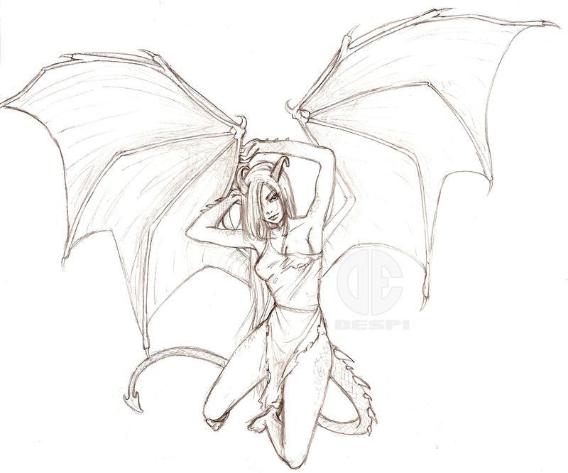 Aleara The Human Dragon By Delespi On DeviantArt