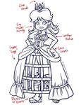 Steampunk Daisy Line Art