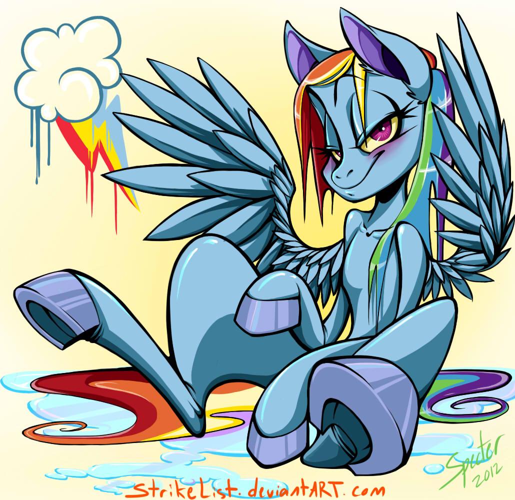 Drippy Rainbow Dash by StrikeList