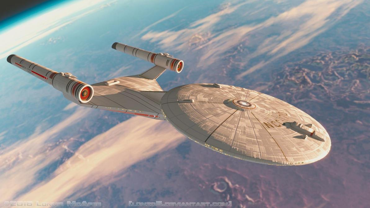 Ralph McQuarrie Enterprise In Orbit By Lonzo5 ...