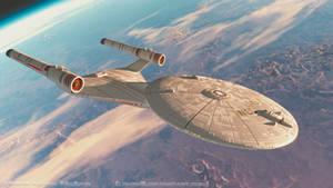Ralph McQuarrie Enterprise in Orbit