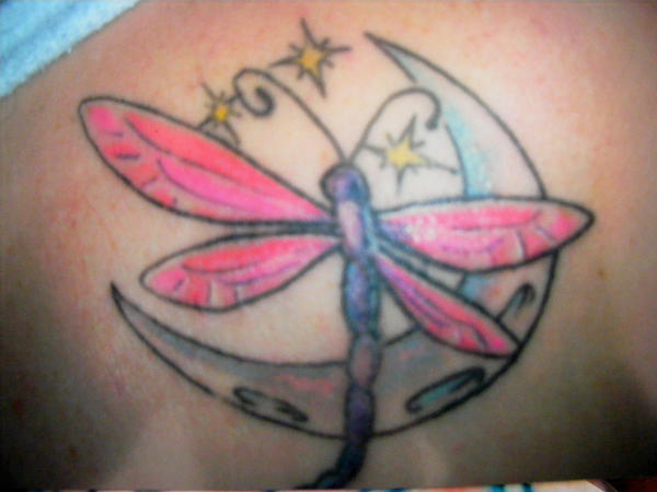 Dragonfly Moon - dragonfly tattoo