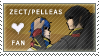 Zect and Pelleas Stamp by RoyLover