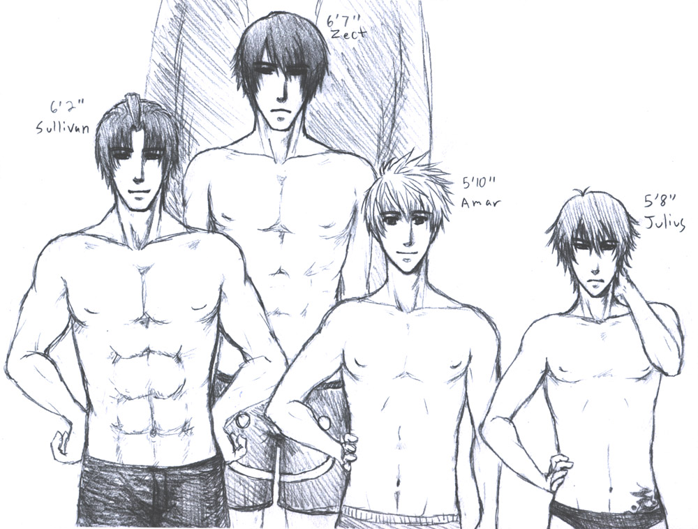 How to draw a shirtless guy