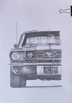Car drawing - Mustang 1964