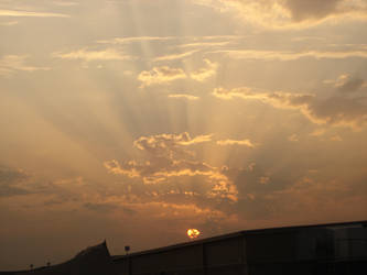 Sunset in Camp Arifjan Kuwait by XeroxKill