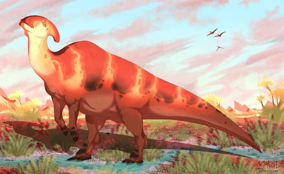 [Dinovember day 15] - Parasaurolophus