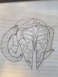 Helmet of Per-Ahmose (sketch)