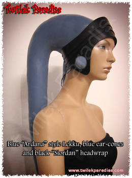 Black Siordan real leather headwrap