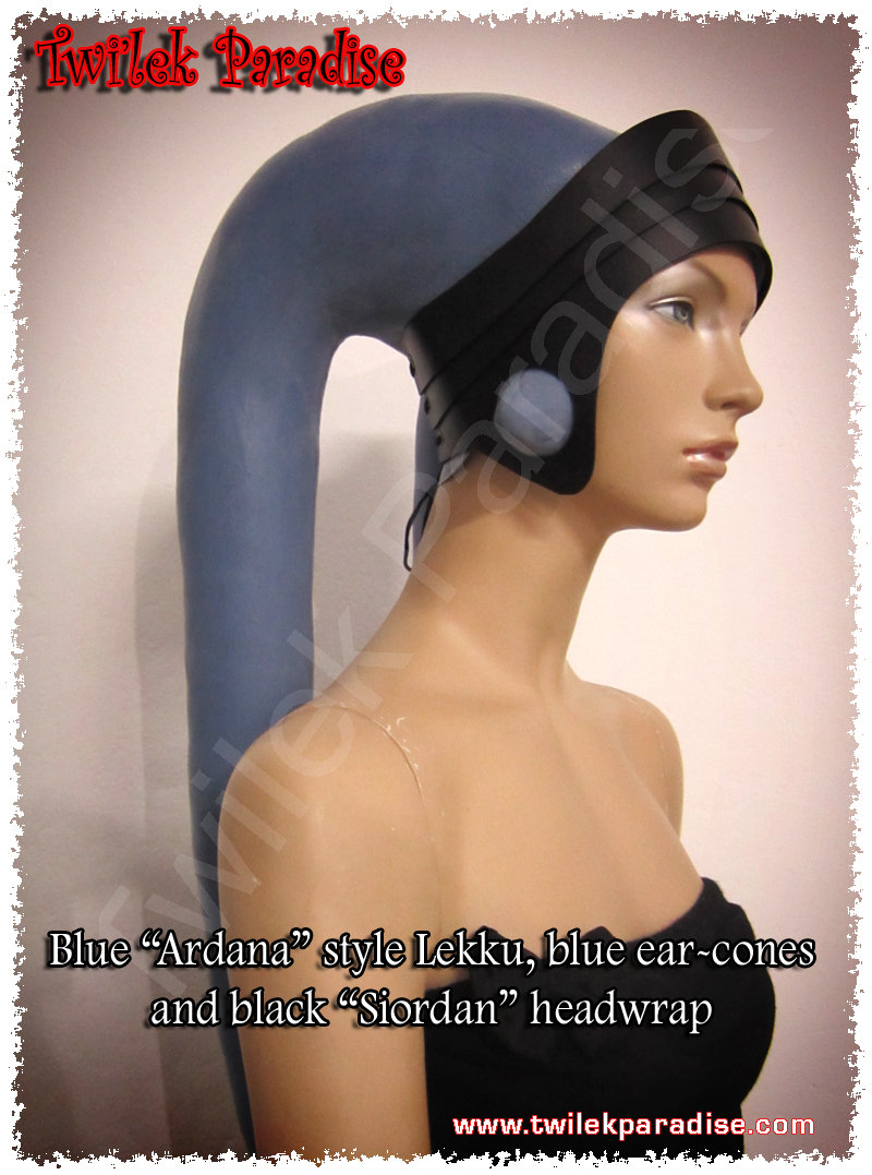 Black Siordan real leather headwrap by TwilekParadise