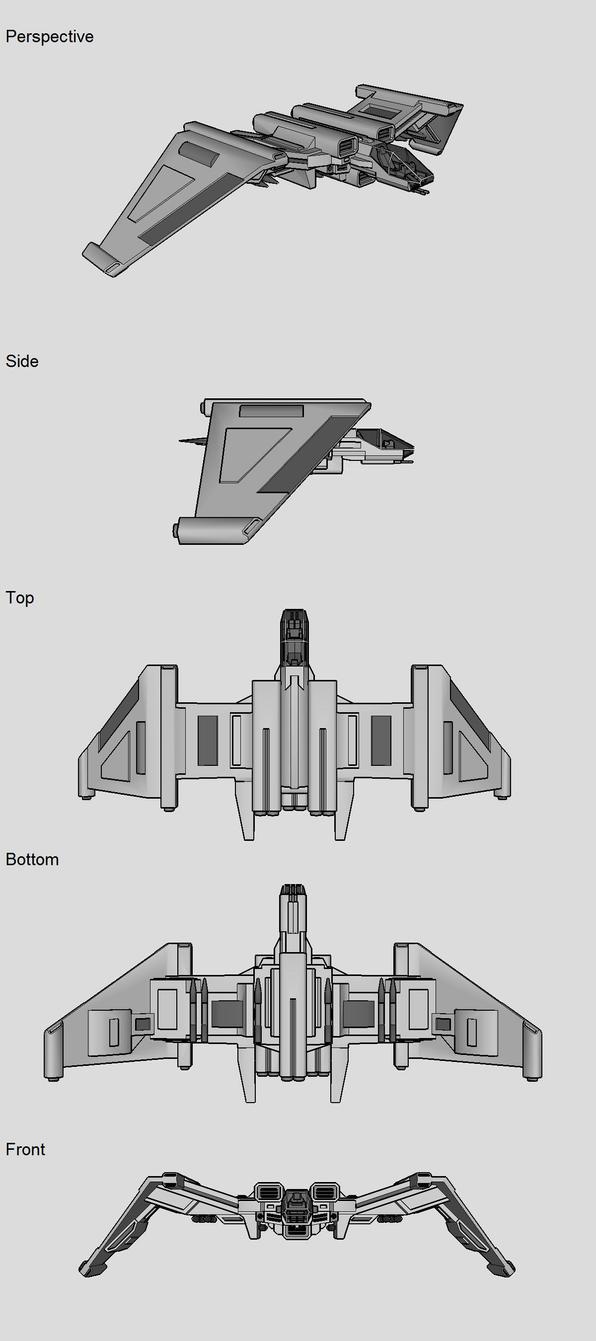 SF-316SR WASP Starfighter by TheOrangeGuy