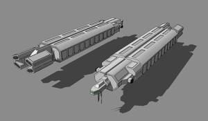 T-950 BATA Medium Freighter by TheOrangeGuy