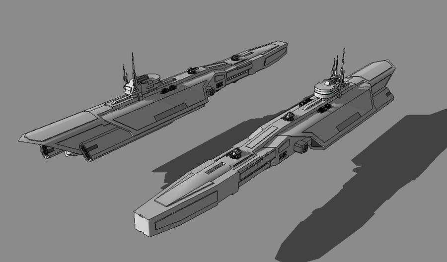 PALADIN-Class Heavy Corvette by TheOrangeGuy