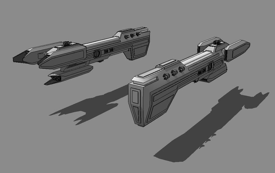 SKALD-class Gunship by TheOrangeGuy