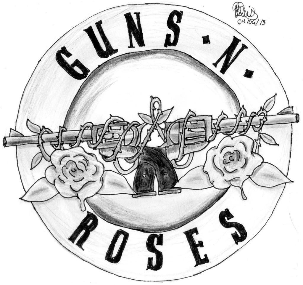 Symbol Guns n  Roses by MyPerseusGuns N Roses Logo Black And White