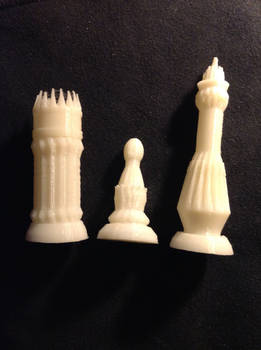 3d Modelled and Printed Chess Pieces