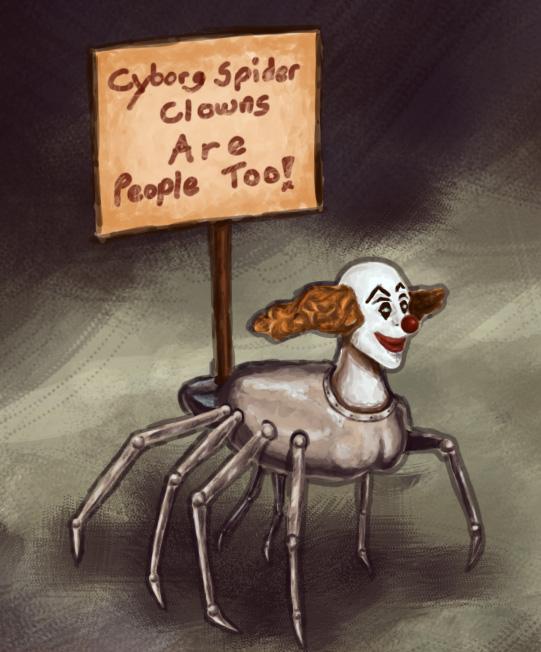 Cyborg Spider Clown