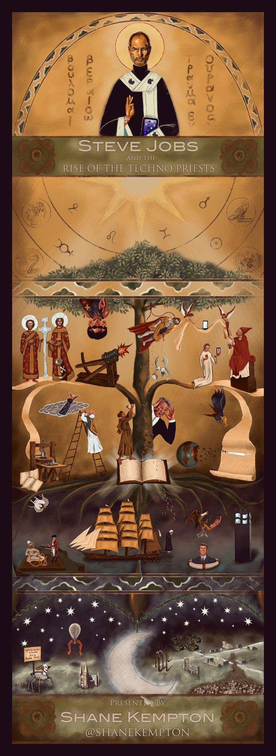 Techno Priest Illustration