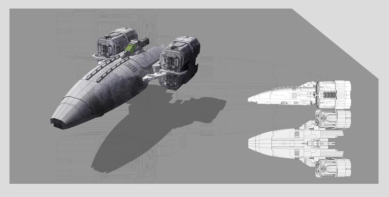Spaceship concept by DmitryEp18