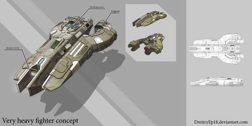 Very heavy spaceship concept