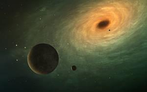 The Planet Koberon and Black Hole by DmitryEp18