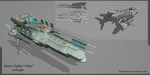 Heavy fighter Obey concept