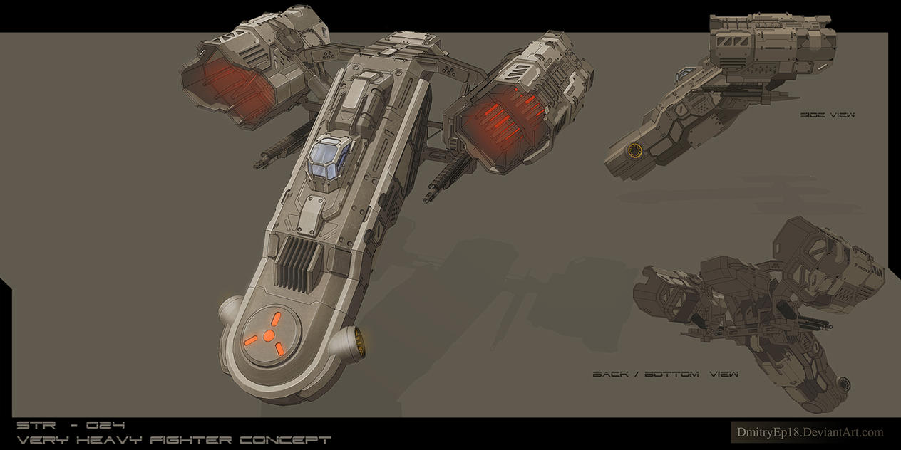 STR - 028 very heavy fighter concept by DmitryEp18