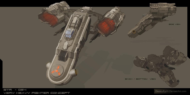 STR - 028 very heavy fighter concept by DmitryEp18