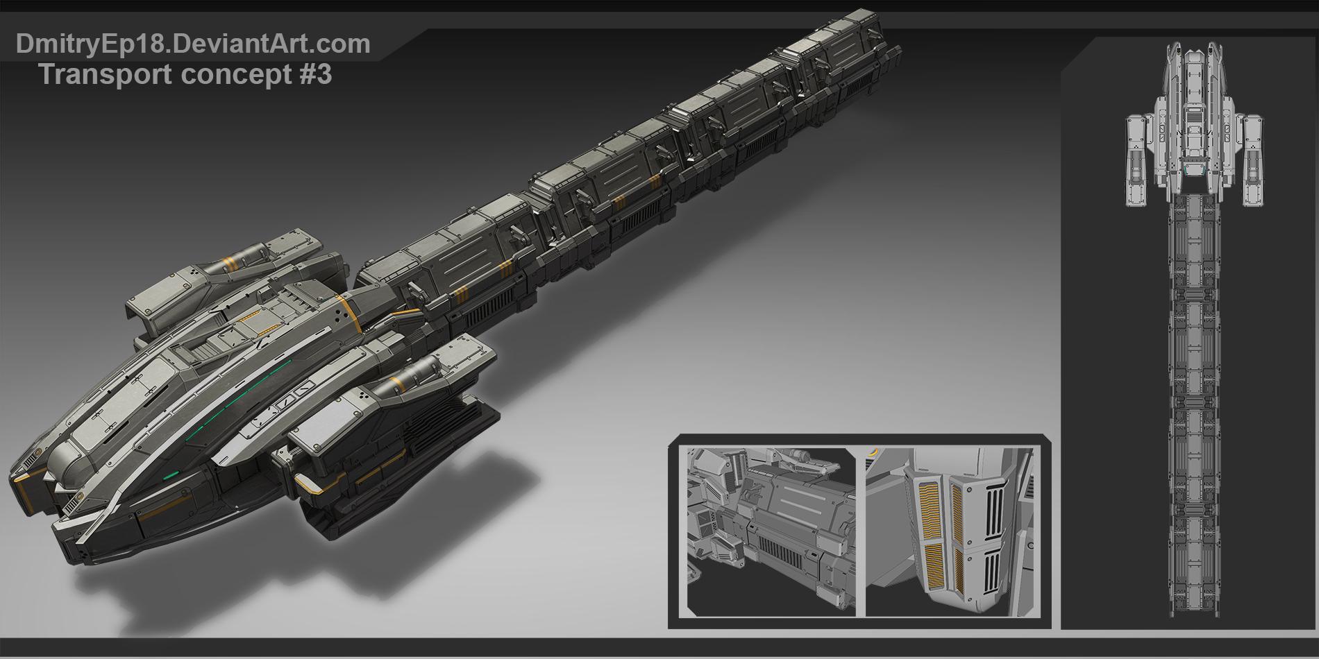 Alien transport concept by DmitryEp18