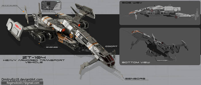 ZT - 104 heavy armored transport vehicle concept by DmitryEp18