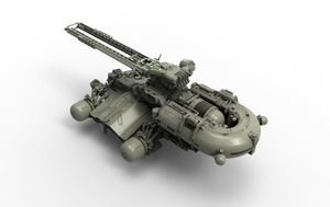 Clay railgun render