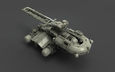 Clay railgun render